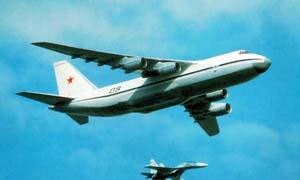 Ан-124 в сопровождении Су-27