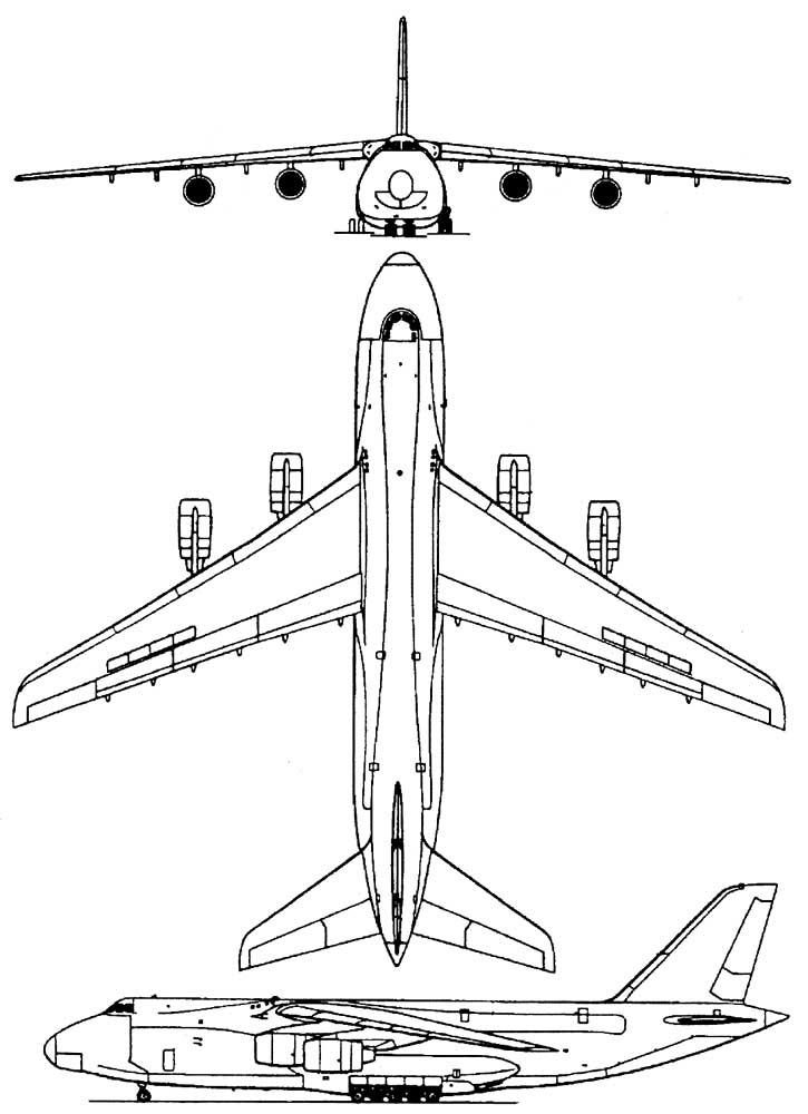Схема Ан-124.