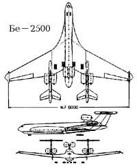 Схема Бе-2500 с НК-116