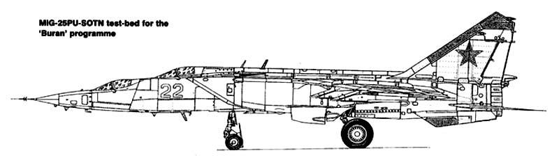 Самолет МиГ-25ПУ-СОТН (самолет