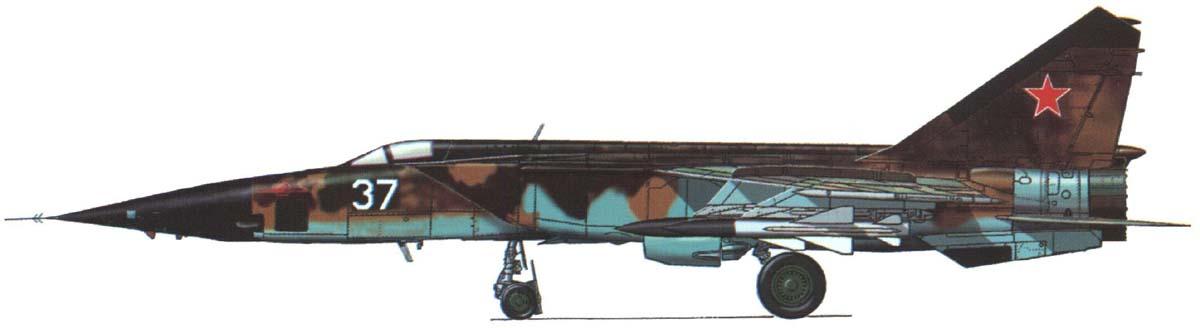 Схема окраски МиГ-25БМ
