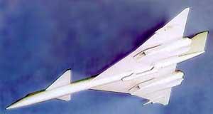 Модель ракетоносца Ту-135К (1961-1962)