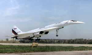 Посадка Ту-144ЛЛ