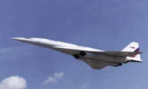 Пролет Ту-144ЛЛ над ВПП