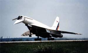 Взлет Ту-144ЛЛ