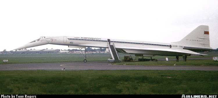 Первый полет серийного Ту-144