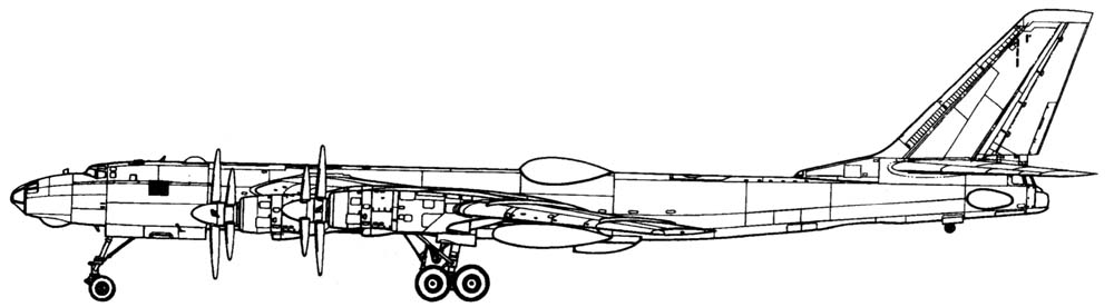 Схема Ту-95ЛАЛ