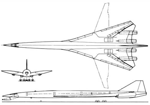Схема Boeing 2707-100