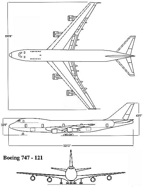 Схема Boeing 747-121