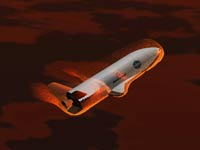 Вход X-37B в атмосферу